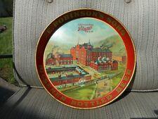 Antique Adv Pre Prohibition Beer Tray E Robinson Factory Scene Scranton Pa