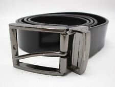 Mens Calvin Klein Black And Brown Reversible Leather Belt Size 42 Gray Buckle
