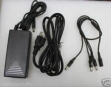 12V 5A DC Power Supply +4 Splitter Cable for CCTV Surveillance Camera DVR System