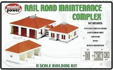 Model Power N Scale Railroad Maintenance Complex Buildings Kit 1584