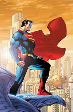 JIM LEE rare SUPERMAN paper giclee FOR TOMORROW 2005 + COA!!