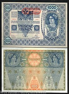 AUSTRIA 1000 1,000 KRONEN  P-61 1902 EURO EU LARGE SIZE UNC MONEY BILL BANK NOTE