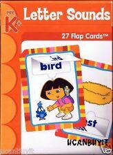 DORA the Explorer LETTER SOUNDS Flap Flash Cards Ages 4+ Grades PreK+