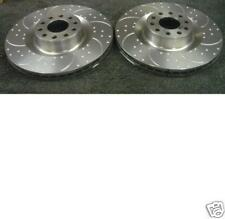 VW PHAETON AUDI A8 S8 4.2 BRAKE DISC FRONT DIMPLED GROOVED BRAKE DISCS 323MM