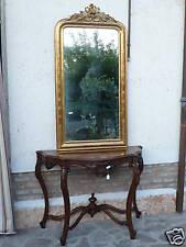 Grande specchiera 153x77 dorata a foglia oro ep '800 RESTAURATA n26 con cimasa
