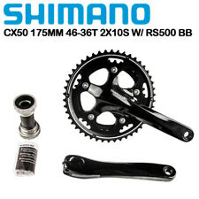 Shimano CYCLOCROSS FC CX50 Crankset 175mm 46-36T 2x10 Speed RS500 Bottom Bracket