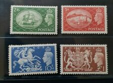 GREAT BRITAIN 1951 KG VI 2s6d to £1 SG 509 - 512 Sc 286 - 289 set 4 MNH