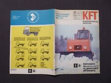 KFT Kraftfahrzeugtechnik 12/1973, Kleintransporter Multicar 22 mit Schneepflug