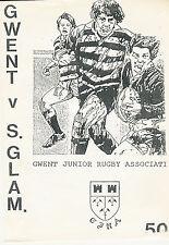 GwentJuniors vSouth Glamorgan Under 14s 18 Apr 1991 RUGBY PROGRAMME