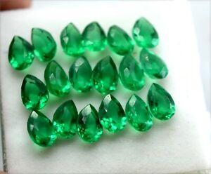 Certified Natural Calibrated Zambian Emerald Pear Cut 7x5 mm Lot Loose Gemstones