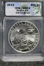 2013 ICG MS70 ARMENIAN NOAH'S ARK 1toz SILVER COIN!!!! #A1738