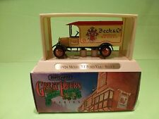 MATCHBOX YESTERYEAR YGB02 FORD TT VAN 1926 - BEER BECK'S - 1:43? - NMIB