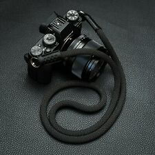 HandMade Rope Camera Strap (singing rock Static Rope)Fuji Lieca sony Black 120cm