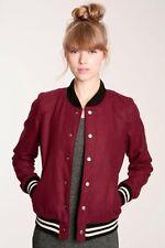 Urban Outfitters BDG Wool Varsity Bomber Jacket S Elena Gilbert Vampire Diaries