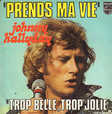 "JOHNNY HALLYDAY – Prends Ma Vie (1974 VINYL SINGLE 7"" FRANCE)"