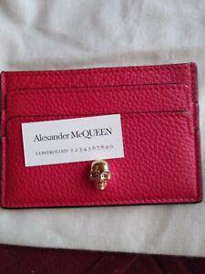 Alexander Mcqueen Skull Credit Card Holder