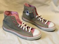 Vintage CONVERSE ALL STAR Gray Pink Canvas Chuck Taylor Womens Size 11 NEW
