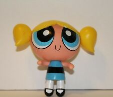 "Cartoon Network Powerpuff Girls Bubbles 4"" Action Figure Blonde Poseable Blue"