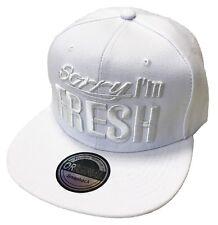SnapBack Fresh cap gorra basecap gorra hip-hop Cool Trucker Cappy blanco nuevo
