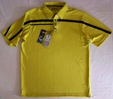 Sunice mens $75 X-Static Science Style Golf Polo Shirt strech poly Olive Green L