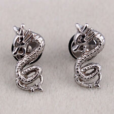 Fashion Jewelry Cute Retro Chinese Dragon Boy Girl Surgical Steel Earrings Stud