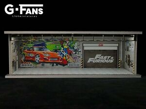 G.Fans 1:64 Fast & Furious Garage Diorama