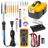 Electronic Soldering Iron Gun Tool Kit 60W Welding Gun Adjustable w Multimeter