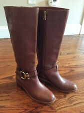 Ln Coach Carolina Boots Sz 6.5 6 1/2 Saddle Brown