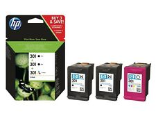 HP 301 (E5Y87EE) Tri-Colour and Black Ink Cartridge - 3 Cartridge