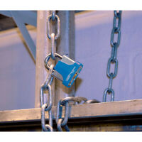 65Mm Laminated Steel Padlock And 2 Keys With Hardened Shackle And Bumper Draper