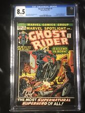 🔥MARVEL SPOTLIGHT #5🔥1ST APPEARNCE🔥GHOST RIDER🔥CGC 8.5🔥Rare HTF Wht Pages