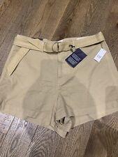 "Gap Womens Size 16 High Rise Denim Shorts Stretch Beige  Khaki 4 "" Summer New"