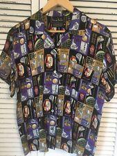 Vintage 1994 Nicole Miller Limited Edition Top-Flite Golf Silk Shirt Women's M