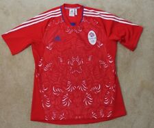 Adidas Team GB Olympic Great Britain Soccer Jersey Red- Mens Large