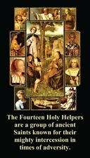 Fourteen Helpers Prayer CARD (wallet size)