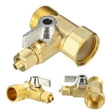 1/2'' To 1/4'' 3 Ball Valve Faucet Reverse Osmosis System RO Feed Water Adapter