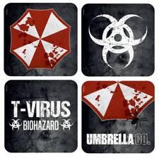 Resident Evil Umbrella SET 4-teilig 3D Untersetzer Bier Geschenk 4er-Pack