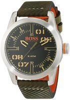 Hugo Boss Original 1513415 Men's Oslo Olive Leather Watch 44mm