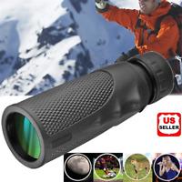 12x25 Pocket Compact Monocular Telescope Outdoor Survival Hunting Scope Prop US