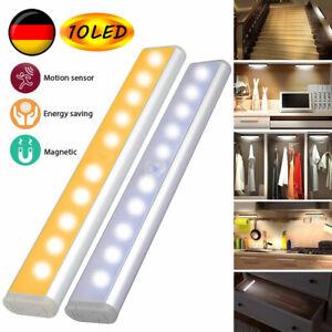 LED Nachtleuchte Nachtlicht Treppen Lampe Wandleuchte mit Bewegungsmelder Sensor