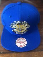 Golden State Warriors Mitchell & Ness Snapback Hat Cap Blue New Nba Basketball