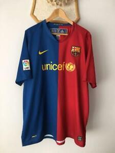 FC BARCELONA 2008 2009 HOME FOOTBALL SOCCER SHIRT JERSEY NIKE CAMISETA ADULT XXL