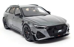 GTSpirit 1/18 - Audi RS6-R ABT Avant Metallic Grey 2020 C8 Resin Scale Model Car