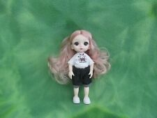 "6"" Bjd Doll Rooted Acrylic Long Hair + Top Shorts Shoes * Collectibles Love Gift"