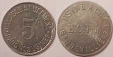 Gennevilliers (92), Usine à Gaz, E.C.F.M. (Eclairage Chauffage..), 5 Centimes !!