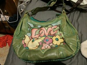 """Isabella Fiore """" Summer Love"""" Hobo Bag Purse Leather Hippie"""