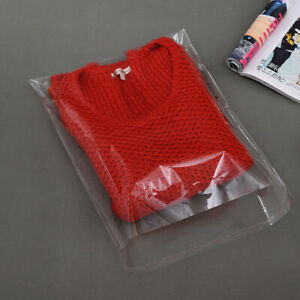 Garment bags clear cellophane plastic self seal packaging for T-Shirts clothes
