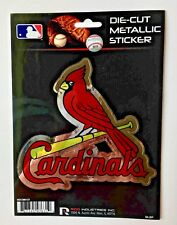 "ST. LOUIS CARDINALS WINDOW DECAL 5.25""X 6.25"" DIE CUT METALLIC STICKER LOGO CAR"
