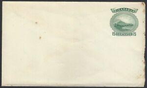 Nicaragua 1900 15c green SHIP envelope unused HG #B47