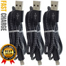 3 Pack 6Ft Lightning Cable For Apple iPhone 11 XR X 8 Charger Charging Data Cord
